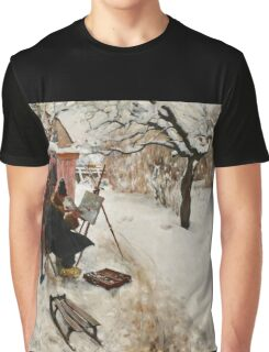 Winter Motif - Plein Air  Graphic T-Shirt