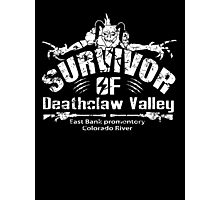 Deathclaw Valley Survivor (White) Photographic Print