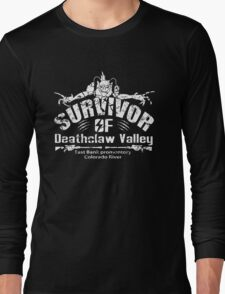 Deathclaw Valley Survivor (White) Long Sleeve T-Shirt