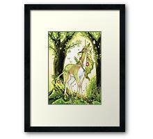 Unicorn - Heart of the Forest Framed Print
