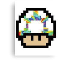 Trippy 8-Bit Mushroom Canvas Print