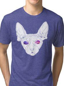 Galaxy Sphynx Simplified  Tri-blend T-Shirt