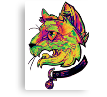 liquidcolor neoncat Canvas Print