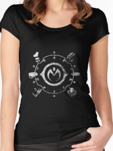 Jojo - Morioh Stands (Rust White) Women's Fitted Scoop T-Shirt
