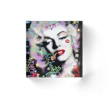 Marilyn with graffiti & diamonds Acrylic Block