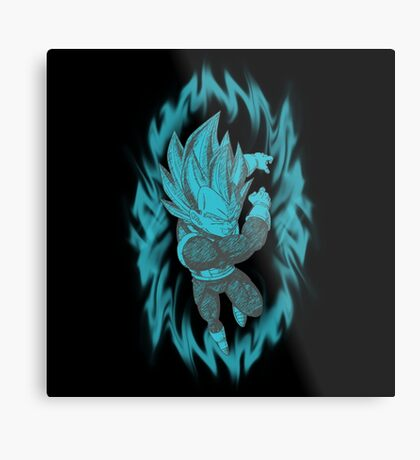 Super Saiyan Blue Vegeta Metal Print