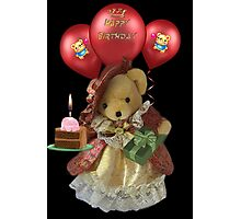 ㋡ HAPPY BIRTHDAY TEDDY BEAR BEARING GIFTS CARD/PICTURE  ㋡ Photographic Print