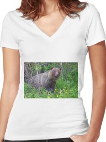 Where did you come from?! Women's Fitted V-Neck T-Shirt