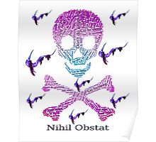 Nihil Obstat Skull Just Don't Vaporwave  Poster