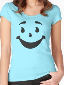 KOOL MAN AID FACE TShirt Oh Yeah 90s Retro Tee Shirt Cool Funny Smiley Yea Drink Women's Fitted Scoop T-Shirt