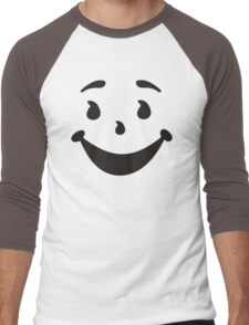 KOOL MAN AID FACE TShirt Oh Yeah 90s Retro Tee Shirt Cool Funny Smiley Yea Drink Men's Baseball ¾ T-Shirt