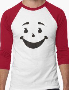KOOL MAN AID FACE TShirt Oh Yeah 90s Retro Tee Shirt Cool Funny Smiley Yea Drink Men's Baseball ¾ T-Shirt