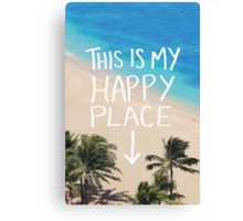 Happy Place Canvas Print