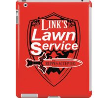 Link's Lawn Service T Shirt Gaming Retro Funny Zelda Tee Game Ocarina nice boy iPad Case/Skin