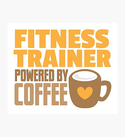 Fitness trainer powered by coffee Photographic Print