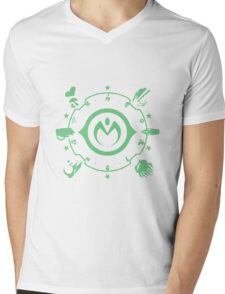 Jojo - Morioh Stands (Lime) Mens V-Neck T-Shirt