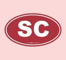South Carolina SC Euro Oval RED Kids Clothes
