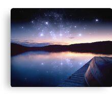 Starry Lake Canvas Print