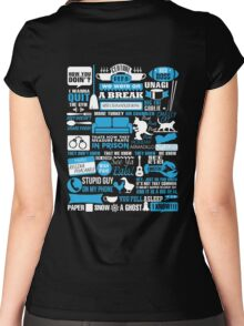 Friends TV Show I wana quit the gym We were on a break Women's Fitted Scoop T-Shirt