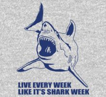 LIVE EVERY WEEK LIKE SHARK WEEK FUNNY SUPER SOFT TSHIRT 30 ROCK TEE EARTH NBC by beardburger