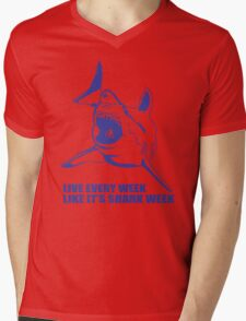LIVE EVERY WEEK LIKE SHARK WEEK FUNNY SUPER SOFT TSHIRT 30 ROCK TEE EARTH NBC Mens V-Neck T-Shirt