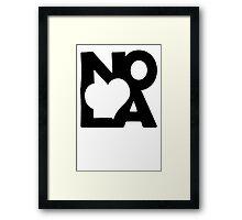 Love NOLA New Orleans American Jazz Blues Music T-Shirt Framed Print