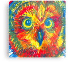 primary color owl Metal Print