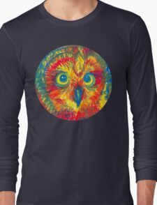 primary color owl Long Sleeve T-Shirt
