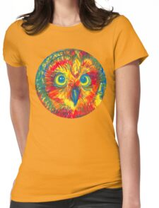 primary color owl Womens Fitted T-Shirt