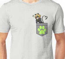 Chat Noir in a Pocket Unisex T-Shirt