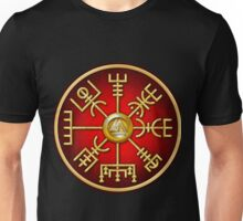 Norse Vegvisir Viking Compass - Red Unisex T-Shirt