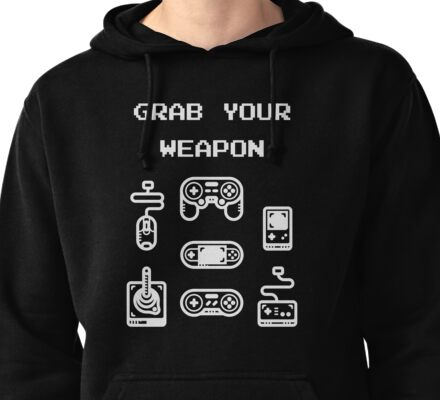 Classic / Old-School Video Game Controllers - Grab your Weapon Pullover Hoodie