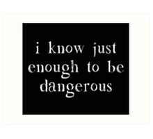 I Know Just Enough To Be Dangerous Art Print