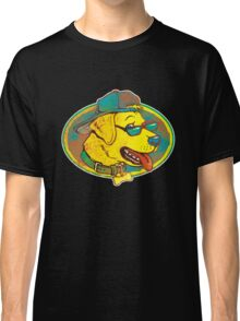 Cool Golden Retriever Dog With Shades And Hat Classic T-Shirt