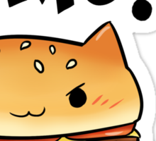 Cats Food - cheeseburger cat Sticker