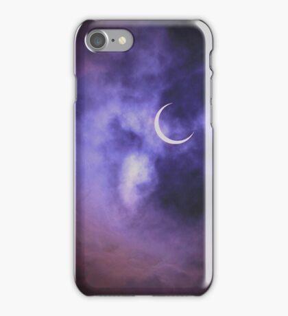 Purple Sky, Crescent Moon iPhone Case/Skin
