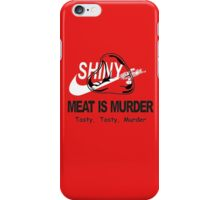 Meat Is Murder Tasty Tasty Murder T-Shirt Funny BBQ Food TEE Cooking Bacon iPhone Case/Skin