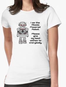 Best Wishes From Atomic Powered Toy Robot Womens Fitted T-Shirt