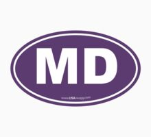 Maryland MD Euro Oval PURPLE Kids Clothes
