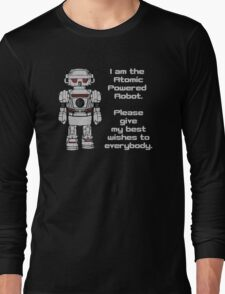 Best Wishes From Atomic Powered Toy Robot Long Sleeve T-Shirt