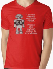 Best Wishes From Atomic Powered Toy Robot Mens V-Neck T-Shirt