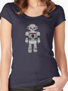 Best Wishes From Atomic Powered Toy Robot Women's Fitted Scoop T-Shirt