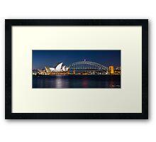 Sydney Icons Framed Print