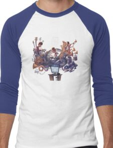 "AJR ""What Everyone's Thinking"" White Logo Men's Baseball ¾ T-Shirt"