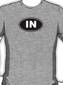 Indiana IN Euro Oval T-Shirt