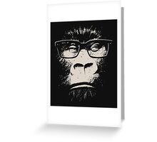 Hipster Gorilla With Glasses Greeting Card