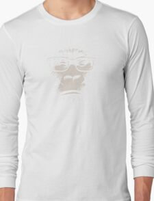 Hipster Gorilla With Glasses Long Sleeve T-Shirt