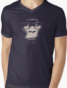 Hipster Gorilla With Glasses Mens V-Neck T-Shirt