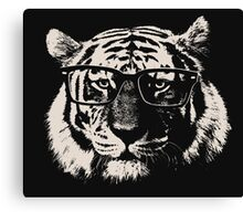Hipster Tiger With Glasses Canvas Print