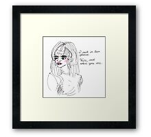 duality (transparent background) Framed Print